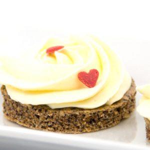 Mohn Kirsch Minikuchen Minitörtchen glutenfrei