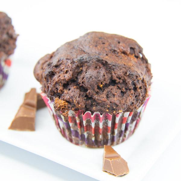 Veganer glutenfreier Schoko Muffin
